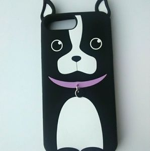 Boston Terrier Cellphone Case with Ears and Collar